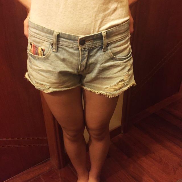 民俗風牛仔短褲