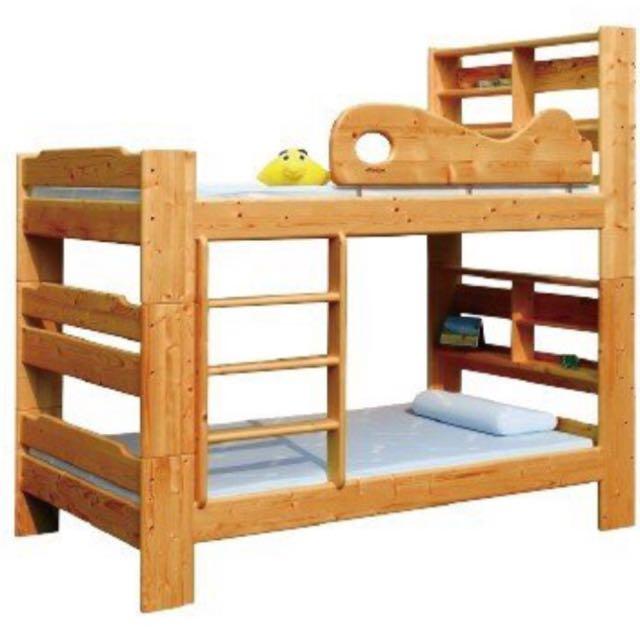 保存良好的揚龍原木雙層床