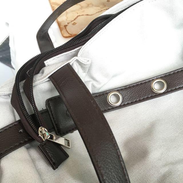 灰色帆布袋一個 全新
