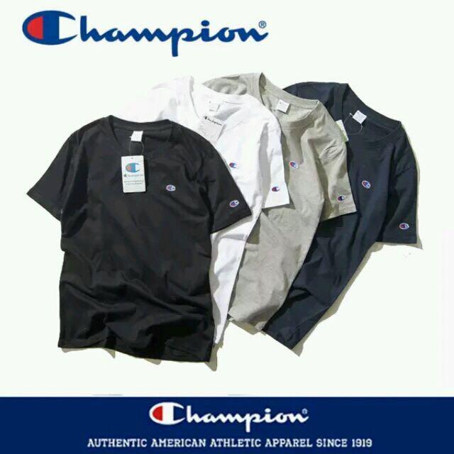 日本 Champion 刺繡Logo T