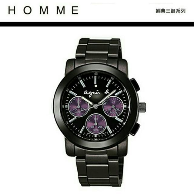 Agnes. b-超經典熱賣紫色三眼錶
