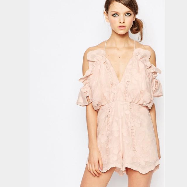 42745007bba Alice McCall Shake It Off Playsuit In Blush