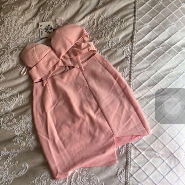 Angel biba baby pink dress