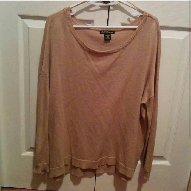 Beige Loose Sweater