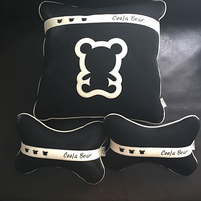Black Bear Pillow And 2 Neck Rest pillows