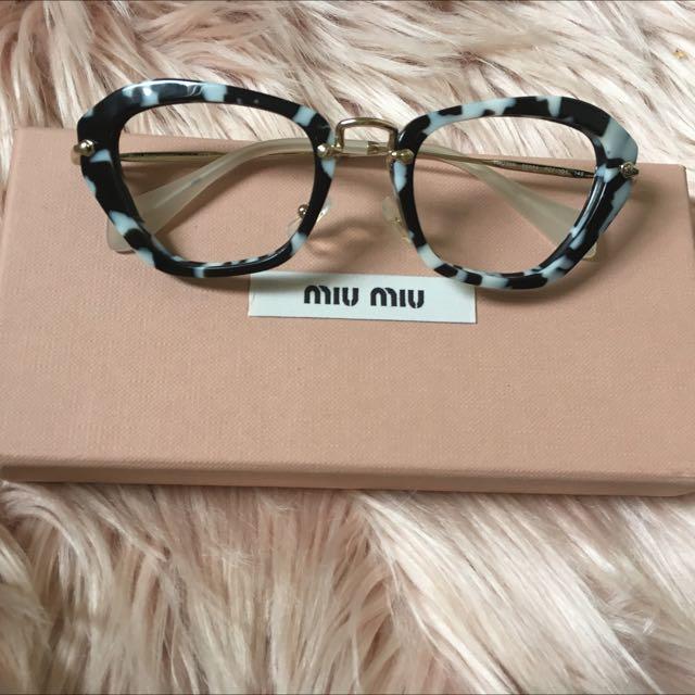 BNIB Miu Miu Marble Glasses Frames