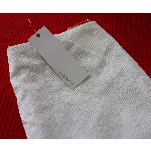 Brand New Cooper St White Kyoto Textured Mini Skirt