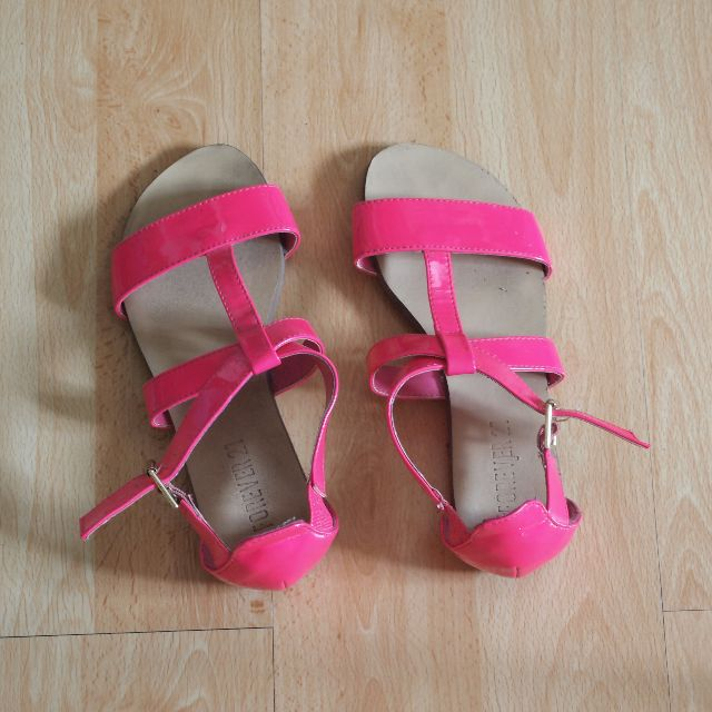Forever 21 Neon Pink Sandals