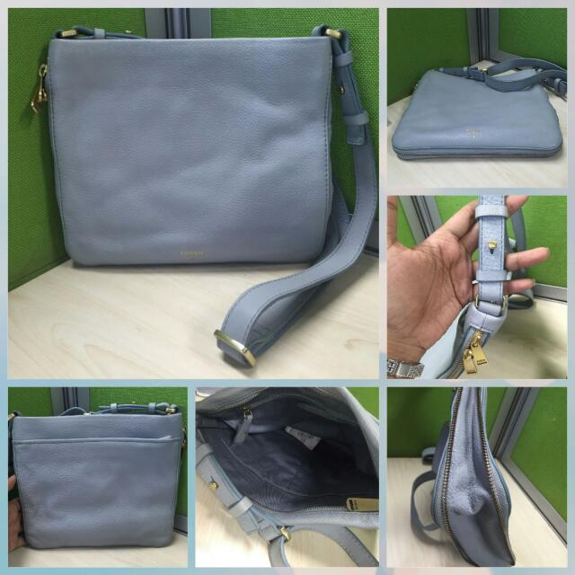 Fossil Preston Crossbody Smokey Blue