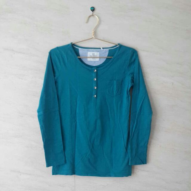 Green Long Sleeves T-shirt