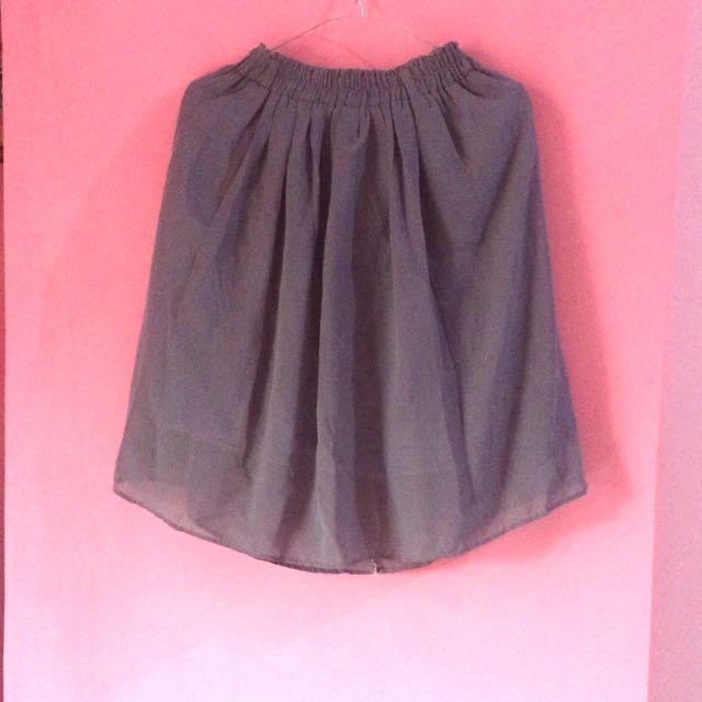 Grey Chiffon Skirt