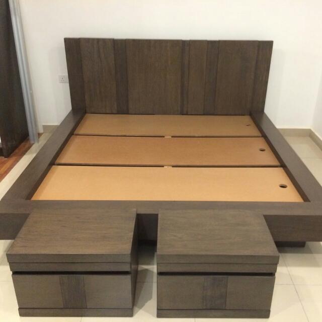 Harvey Norman INC Frenzo King Size Bed Frame - Belgian Oak, Home ...