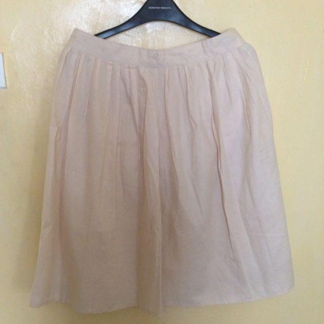Kashieca Beige Midi Skirt