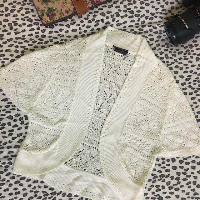 Knitted White Bolero (imported)