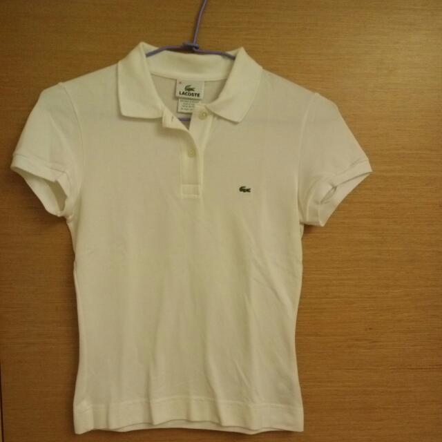 Lacoste白色polo衫