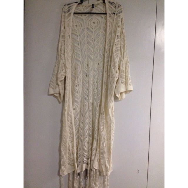 *RESERVED* Long Crocheted Cardigan