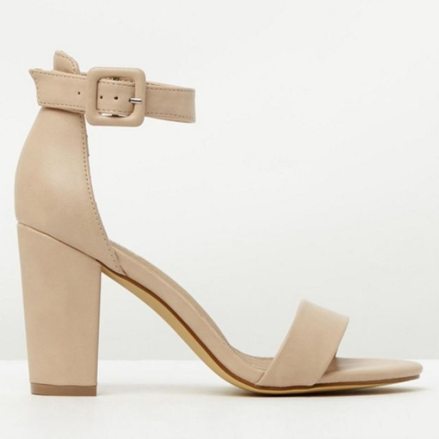 Nude heels size 6 - only worn once