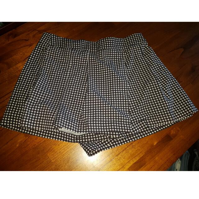 Paper Hearts Checked Skort