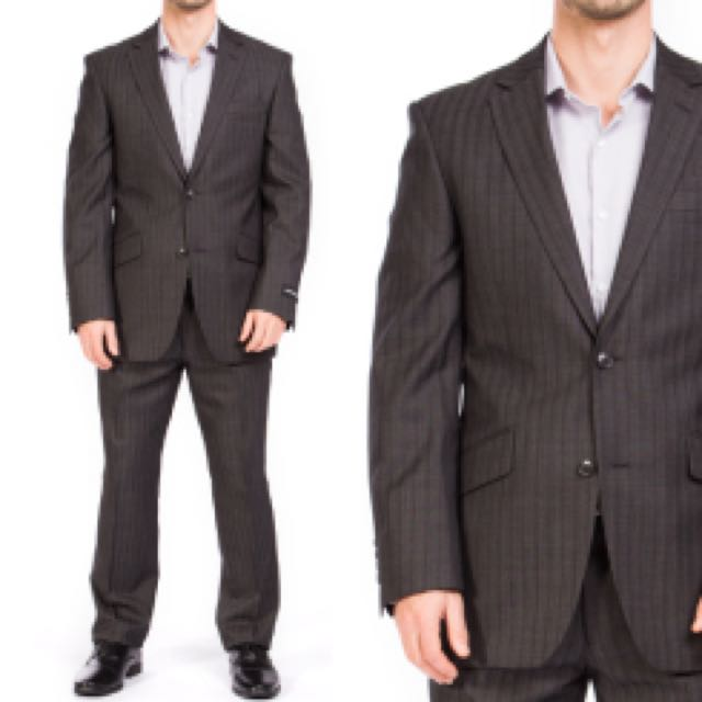 Pierre Cardin Charcoal Suit With 2 Trousers