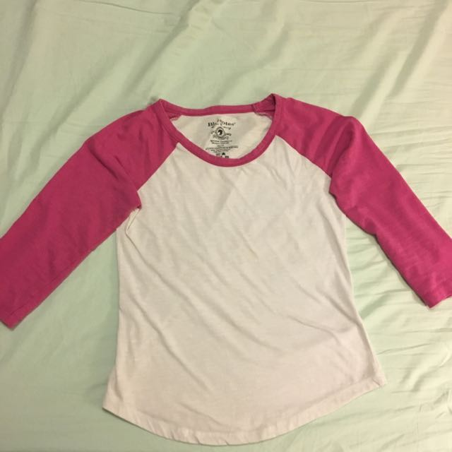 Pink And White Baseball Tee *30% OFF , WAS $10 Before*