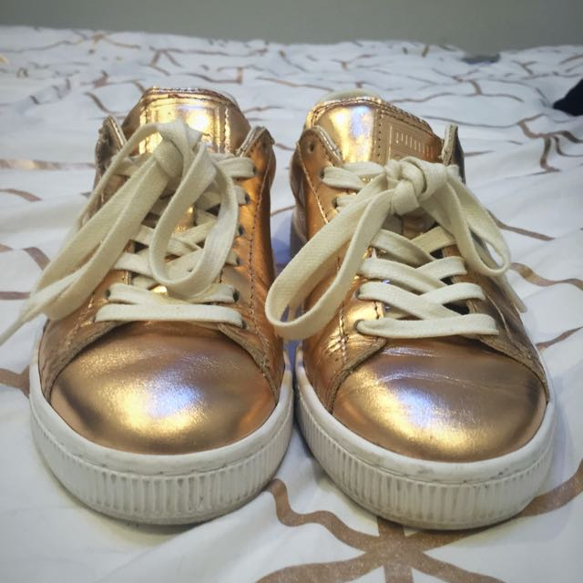 Puma Rose Gold Runners Size 36