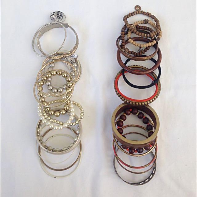 Random Assortment Of Diva Rings And Bracelets