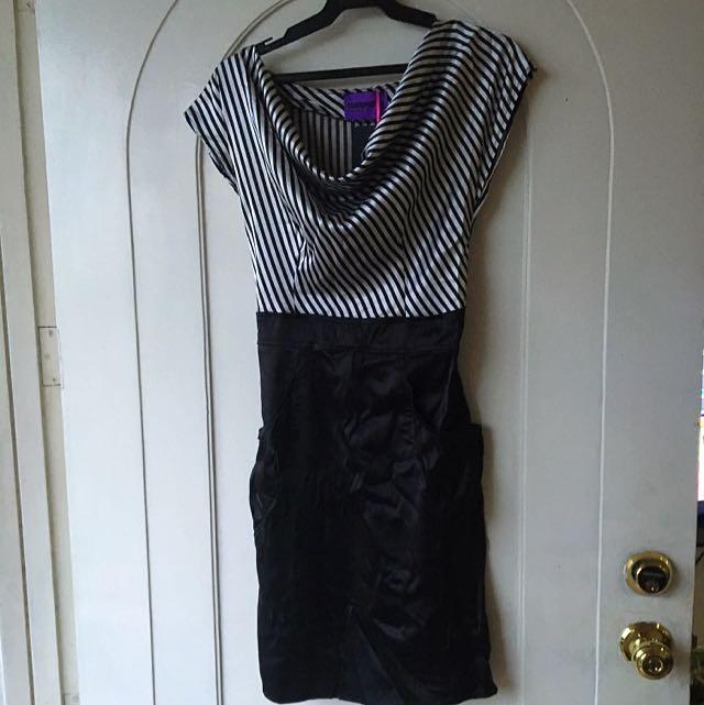 Satin Dress With Side Pocket