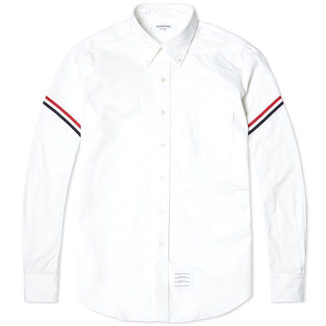 Thom Browne : Classic Oxford Armband Stripe Grosgrain Shirt ( Unisex)