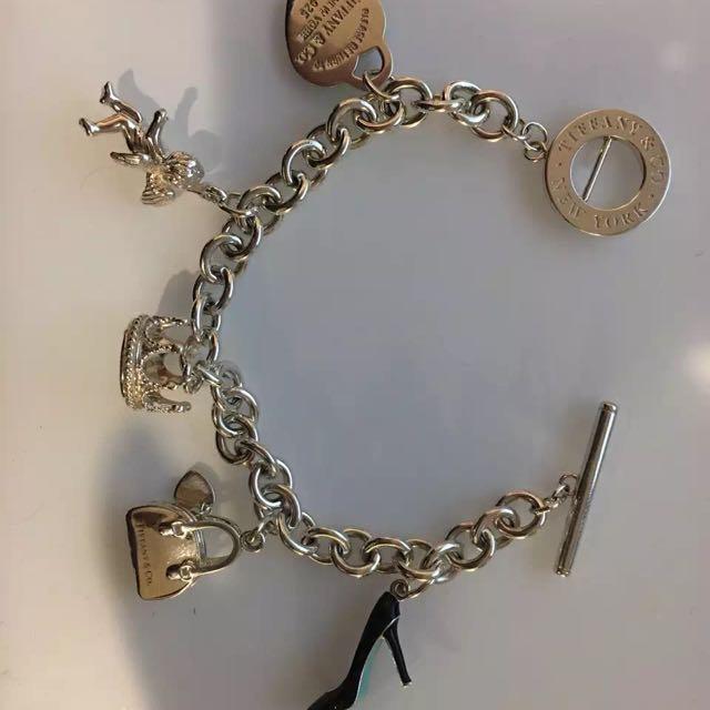 Tiffany N Co 5 Charmed Bracelet