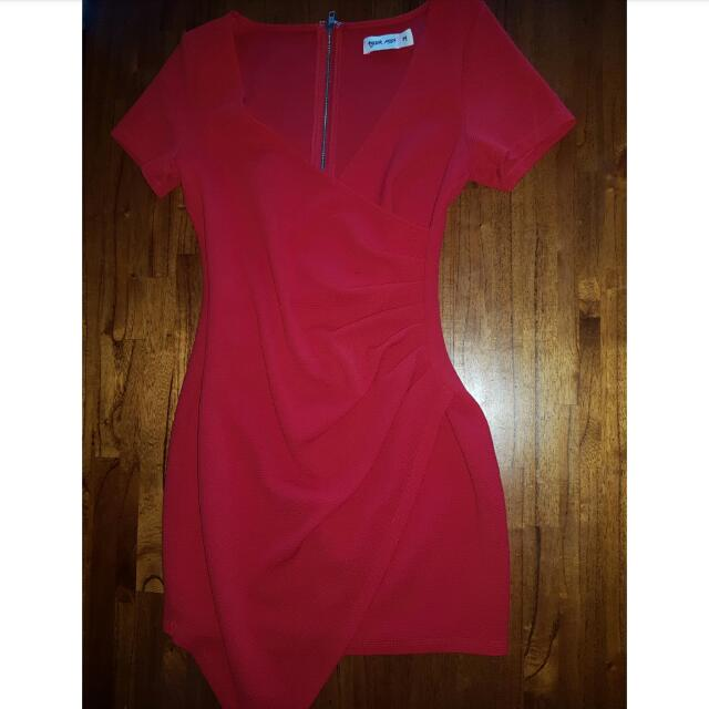 Tigermist Fitted Red Dress