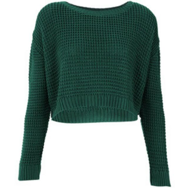 Topshop Cropped Knitted Rib
