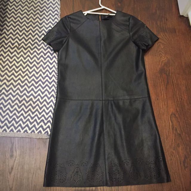 Zara Leather Dress Size Small