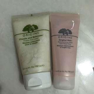 Origins checks and balances frothy Face wash Origins original skin retexturizing mask with Rose clay