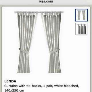Brand new IKEA Curtain set with matching rod set,