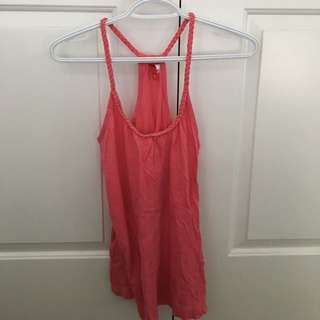 Pink Crossback Strappy Top