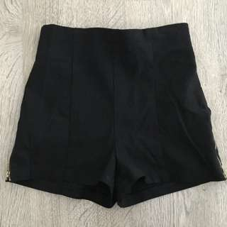 Charlotte Russe Back Short Shorts With Zippers On Side