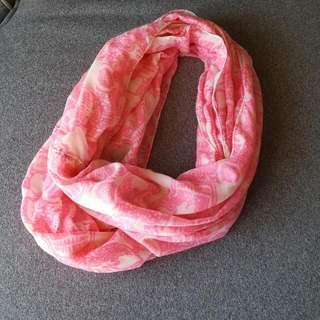 Pink Skull Scarf