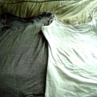 Long Singlets Shelf Bra In White Size 14 Long Stripey Singlet Size 14