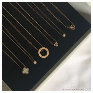 Dainty Necklaces - 14k Rose Gold Plated