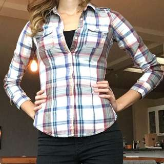 Garage Plaid Blouse