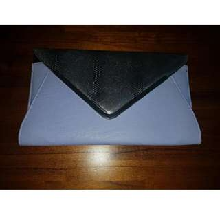 Collette Violet And Silver Clutch