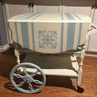 Circa 1900 Tea Cart repaired and hand painted