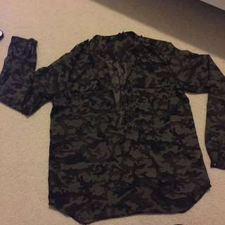 Sheer Army Pattern Shirt (M)