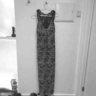 Black White Maxi Dress
