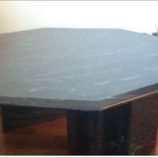 Black Marble Octagon Coffee Table