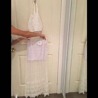 White Crochet Boutique 2 Piece