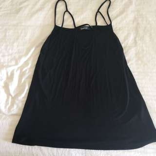 Cross Singlet Black Top