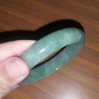 Green Jade Bangle 55mm