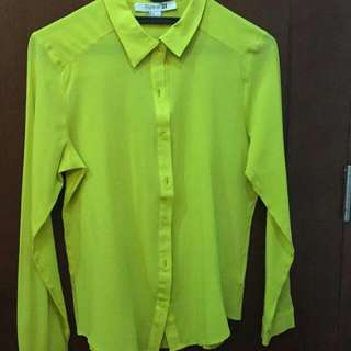 Green Yellow Light Shirt...Forever 21 Size S