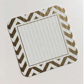 BN 50pcs Chevron Gold Print Gift Tag / Card 2x2inches